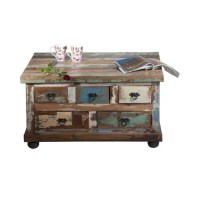 Large Square Coffee Table With Storage | Reclaimed wood ...