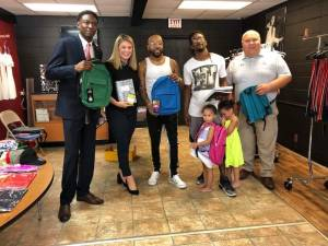 Jeremy Gray , Mallory Hytes Hagan , and our very own Mayor F.L. Bubba Copeland for supporting Royal Threads 2nd Annual#back2schoolgiveaway