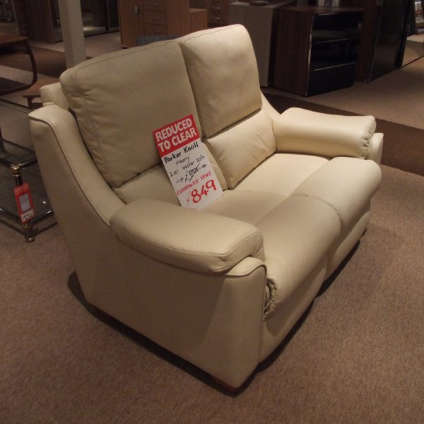 albany leather sofa antique french set parker knoll 2 seater clearance