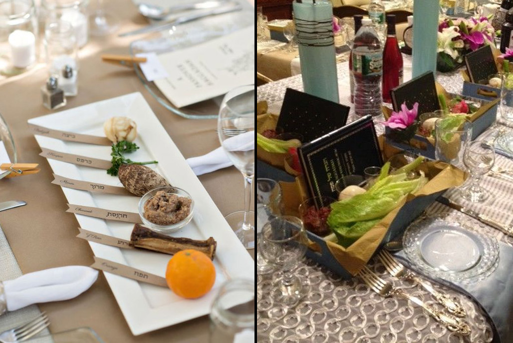Keep the ceremony moving along by providing each guest with the items they will need access to. Set each table setting with inidual seder platters or use ... & Setting the Perfect Passover Seder