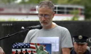 Jon Stewart 9/11 first responders park Nesconset