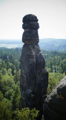 de 'Barbarine'. Een symbool van de 'Sächische Schweiz'.