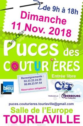 affiche puces Tourlaville 2018