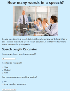 Speech Calculator