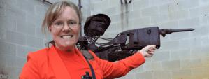 Rust man mining sculpture