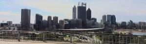 Perth Australia skyline seen from Kings Park