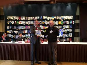 Rotary Club of Seoul - exchange of pennants