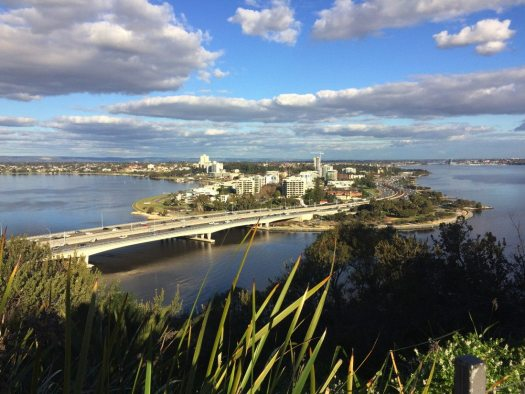 South Perth viewed from Kings Park winter 2016