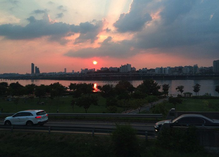 Han River looking westward from Apugjeong