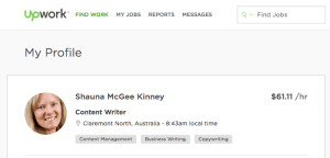 Shauna McGee Kinney on UpWork