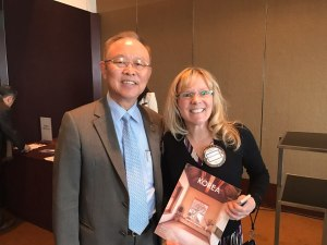 BR Sohn with Shauna Kinney at Rotary of Seoul