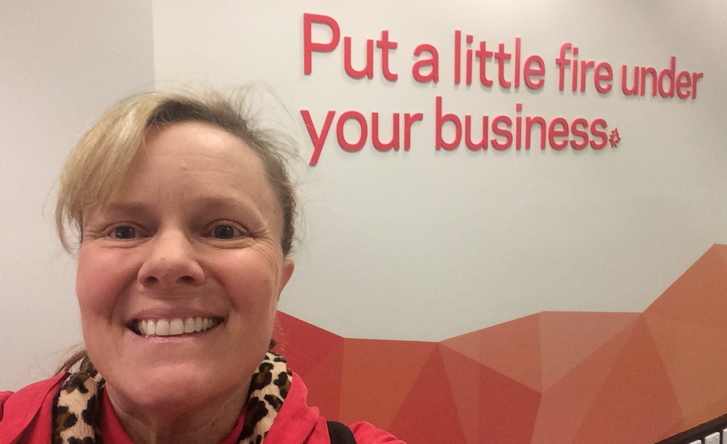 Shauna Kinney at St Georges Bank hub in Perth