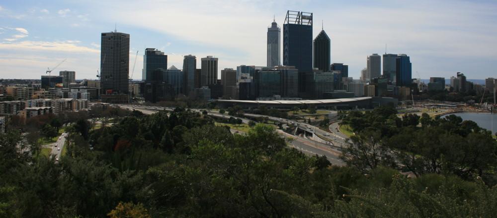 Perth Australia Kwinana Freeway from Kings Park