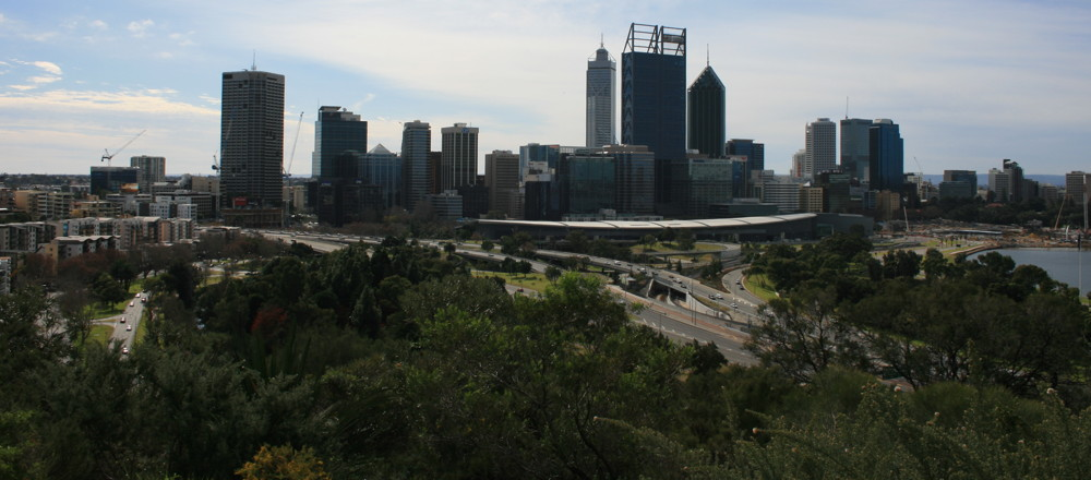 Perth Australia Kwinana Freeway from Kings Park