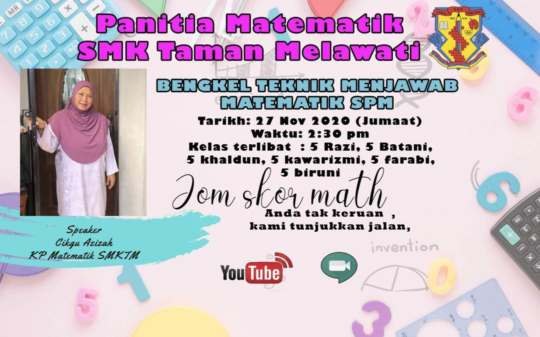 """Watch """"BENGKEL TEKNIK MENJAWAB MATEMATIK SPM"""" on YouTube"""