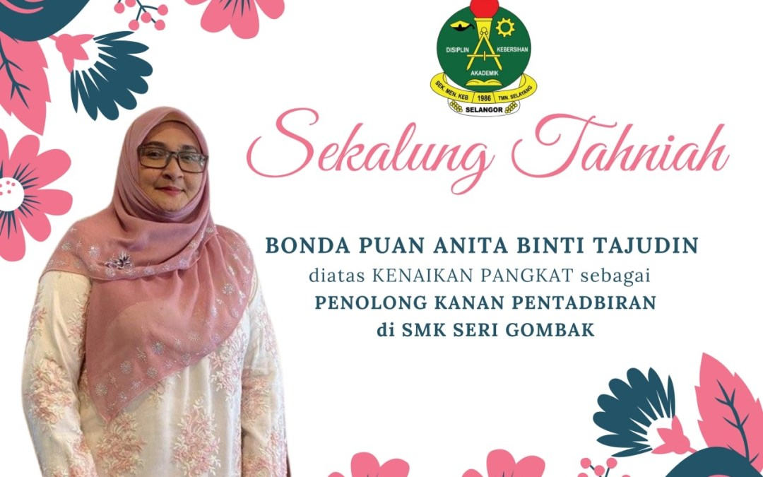 Tahniah Puan Anita