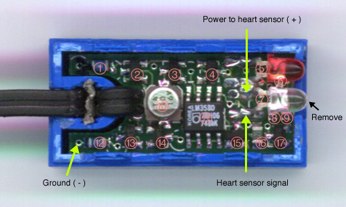 Heart Rate Monitor Circuit Diagram Click For Larger Image