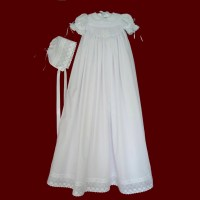 Hand Smocked Girls Christening Gown - Girls Christening ...