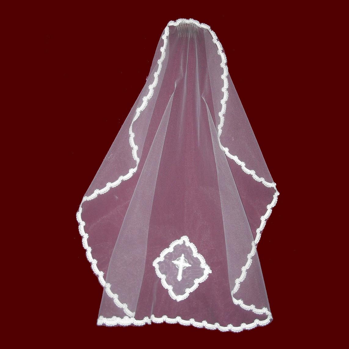 Mantilla Style Communion Veil  Smocked Treasures