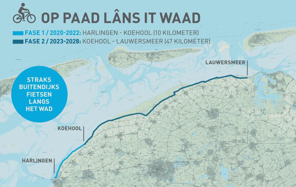 Op Paad lâns it Waad': enjoying the Wadden Sea by bike