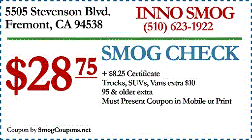 $28.75 Smog Check Fremont - STAR Station - Smog Test