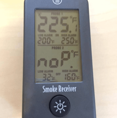 Smoke receiver unit LCD screen