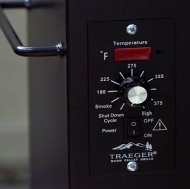 Traeger junior elite temperature control panel
