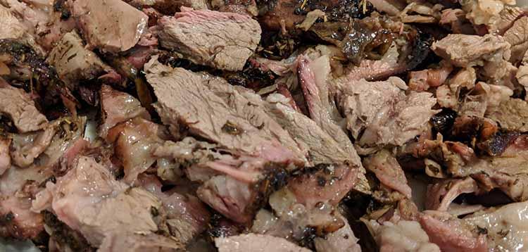 Smoked lamb shoulder recipe