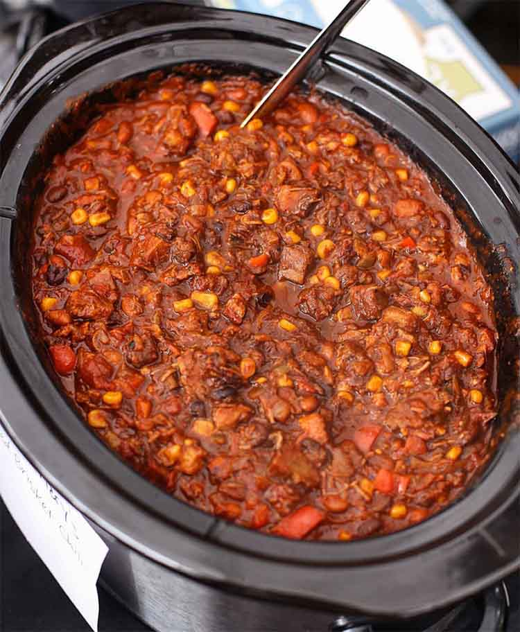 leftover smoked beef brisket chili