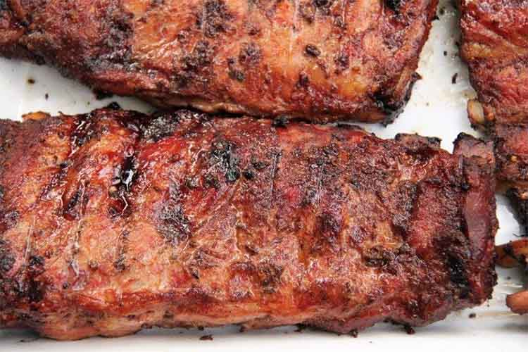 North Carolina Ribs with Vinegar Based BBQ Sauce Recipe