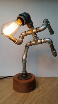 Iron pipe lamp - The Running Man by PureIron - Buy Online