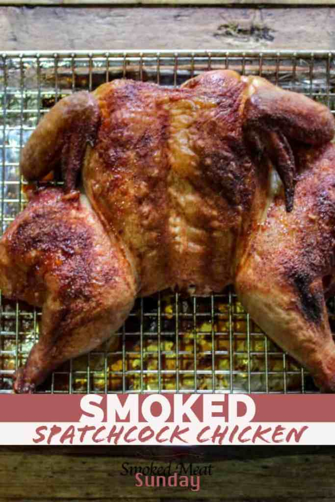 smoked spatchcock chicken - pellet smoked whole chicken - barbecue - My favorite way to smoke a whole chicken, is to spatchcock it!