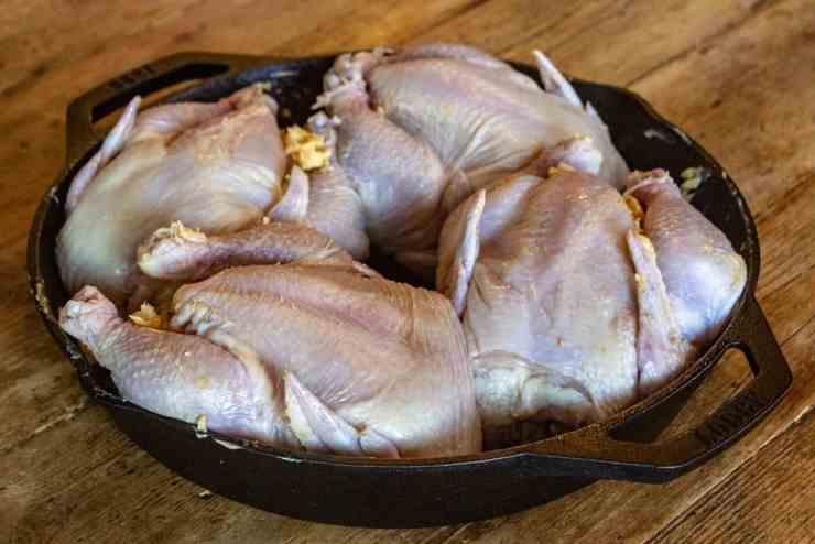 Cornish Game Hens seasoned and ready to be smoked