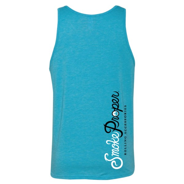Aqua Blue - Smoke Proper Tank-top Cabin Fever Design (Back)