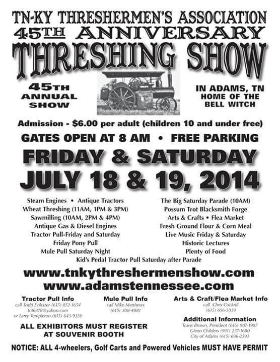 Threshing show 2014 flyer july 18 19