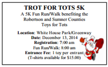 trot for tots White House