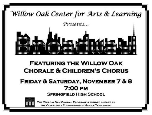 willow oak chorale november 2014