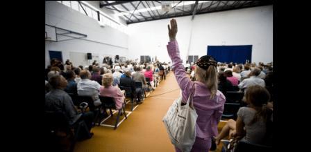 Question candidates slider