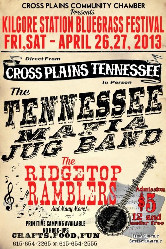 Kilgore station bluegrass april 26 flyer