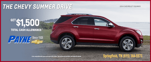 Payne chevy summer drive 511 aug