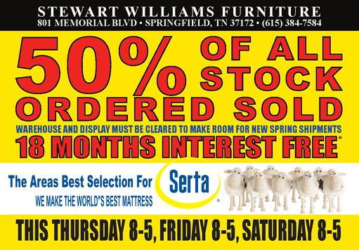 Stewart Williams 50 off sale