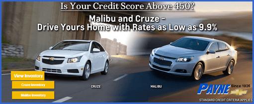 payne chevy credit score 511 aug ad