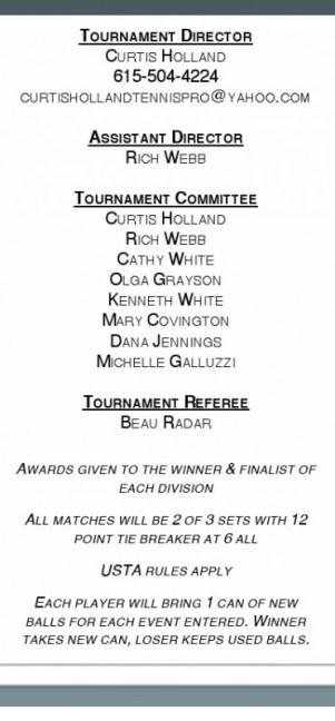 tennis committee