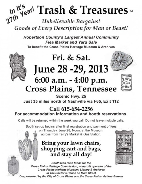 trash & treasures flyer