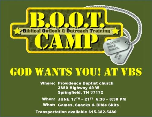 vbs bootcamp