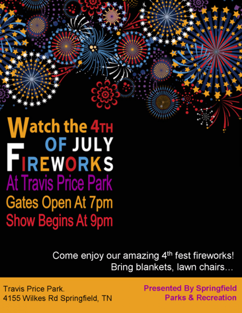 Springfield Fireworks 2013 flyer