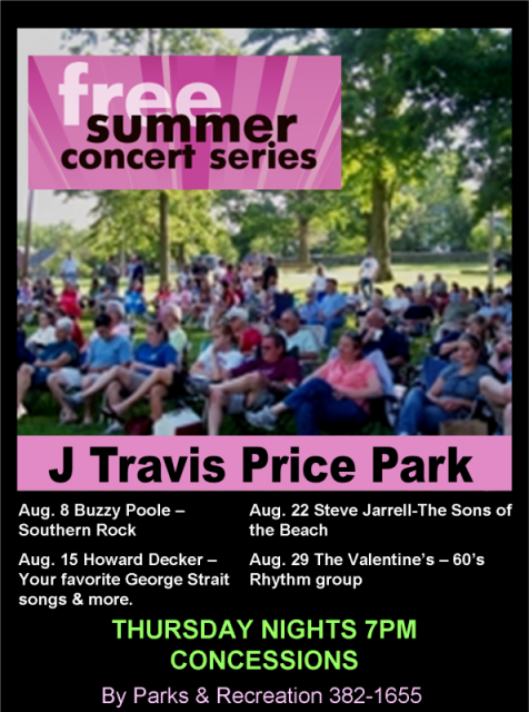 summer concert series flyer