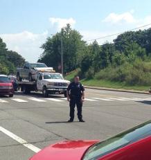 Police directing traffic