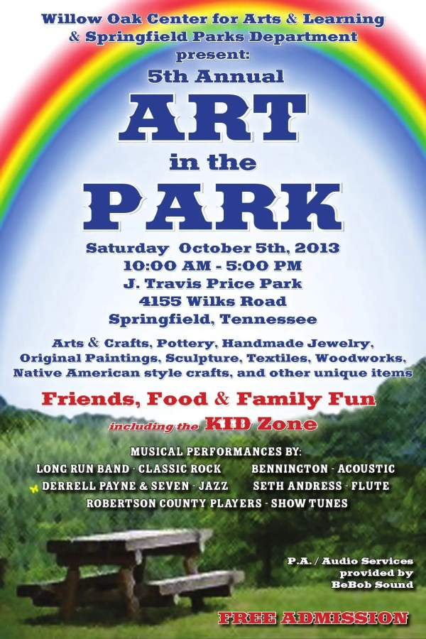 5th Annual Art In Park Concert & Kid Zone Free Event