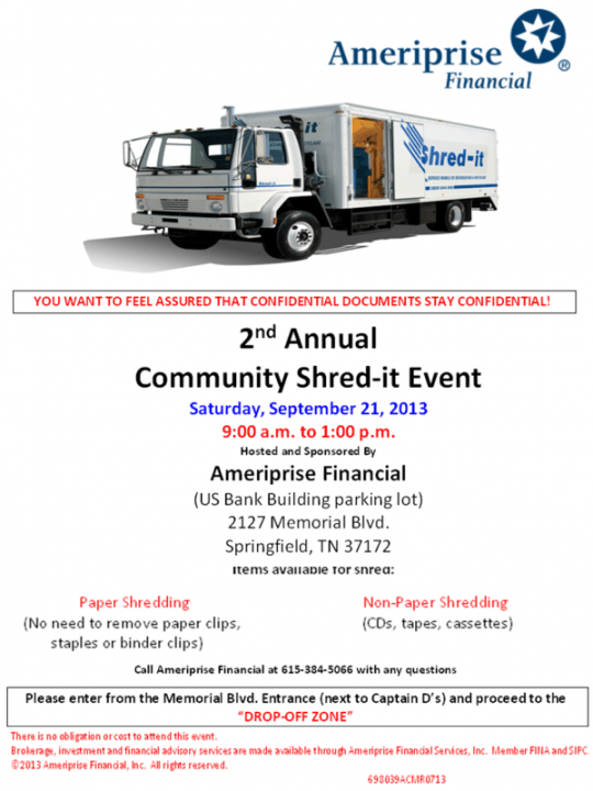 shred day flyer sept 21